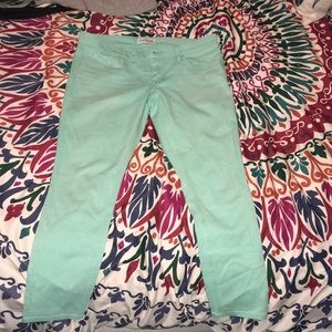 Express ankle jeans teal size 10